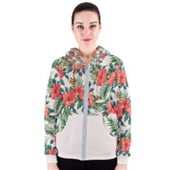 Tropical Flower2 Women s Zipper Hoodie by skyblue