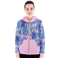 Palm Leves Pattern03 Women s Zipper Hoodie by skyblue