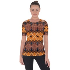 Traditiona  Patterns And African Patterns Short Sleeve Top by Onesevenart