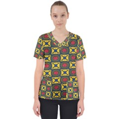 African Textiles Patterns Scrub Top by Mariart