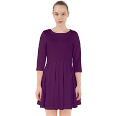 Black Cherry Smock Dress by SimplyColor