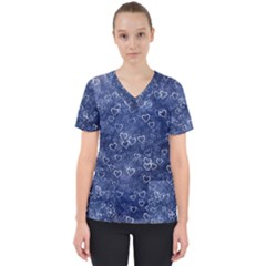 Heart Pattern Scrub Top by ValentinaDesign