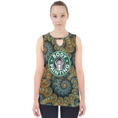 bodypainting Coffee Logo    Cut Out Tank Top by livingbrushlifestyle