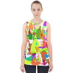 Colorful Shapes On A White Background                             Cut Out Tank Top by LalyLauraFLM