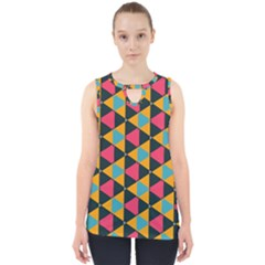 Triangles Pattern                           Cut Out Tank Top by LalyLauraFLM