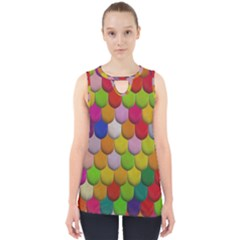 Colorful Tiles Pattern                           Cut Out Tank Top by LalyLauraFLM