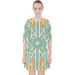 Ccvst0098 Yellow Orange Green Blue Rays Pocket Dress by CircusValleyMallDresses
