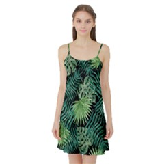 Tropical Pattern Satin Night Slip by ValentinaDesign