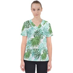 Tropical Pattern Scrub Top by ValentinaDesign