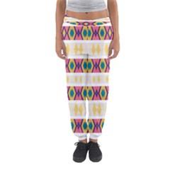 Rhombus And Stripes                            Women s Jogger Sweatpants