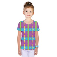 Stripes And Dots                            Kids  One Piece Tee