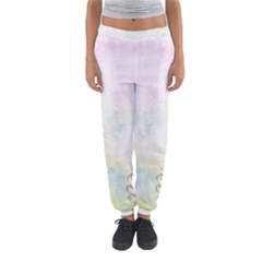 Romantic Watercolor Books And Flowers Women s Jogger Sweatpants