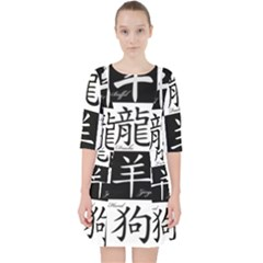 Chinese Signs Of The Zodiac Pocket Dress by Nexatart