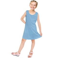 Blue Pattern Background Texture Kids  Tunic Dress by Nexatart