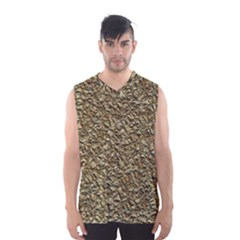 Jagged Stone Golden Men s Basketball Tank Top by MoreColorsinLife