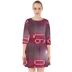 Numbers Game Smock Dress by norastpatrick