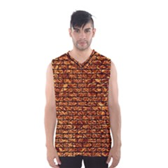 Brick1 Black Marble & Copper Foil (r) Men s Basketball Tank Top by trendistuff