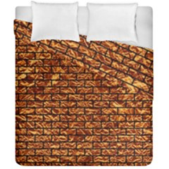 Brick1 Black Marble & Copper Foil (r) Duvet Cover Double Side (california King Size) by trendistuff