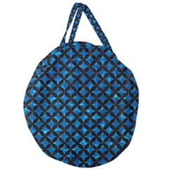 Circles3 Black Marble & Deep Blue Water (r) Giant Round Zipper Tote by trendistuff