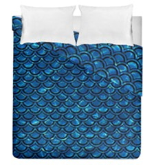 Scales2 Black Marble & Deep Blue Water (r) Duvet Cover Double Side (queen Size) by trendistuff