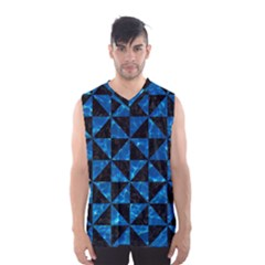 Triangle1 Black Marble & Deep Blue Water Men s Basketball Tank Top by trendistuff