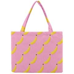 Banana Fruit Yellow Pink Mini Tote Bag