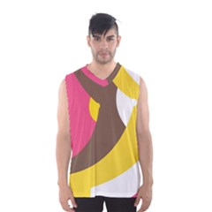 Breast Pink Brown Yellow White Rainbow Men s Basketball Tank Top by Mariart