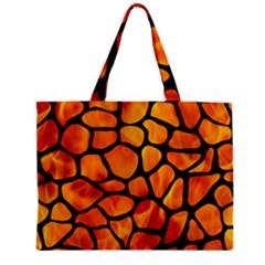 Skin1 Black Marble & Fire Zipper Mini Tote Bag