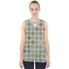 Green And Golden Dots Pattern                            Cut Out Tank Top by LalyLauraFLM