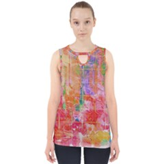 Colorful Watercolors Pattern                            Cut Out Tank Top by LalyLauraFLM