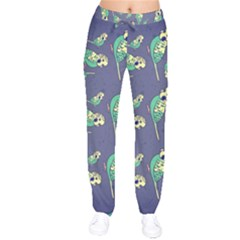 Canaries Budgie Pattern Bird Animals Cute Drawstring Pants by Mariart