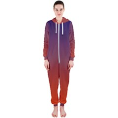Course Colorful Pattern Abstract Hooded Jumpsuit (ladies)