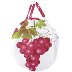 Red Fruit Grape Giant Round Zipper Tote by Mariart