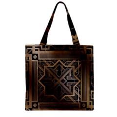 Art Nouveau Zipper Grocery Tote Bag