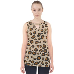 Leopard Cut Out Tank Top by TopitOff