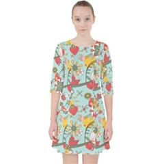 Flower Fruit Star Polka Rainbow Rose Pocket Dress by Mariart