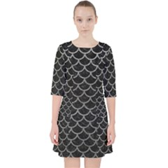 Scales1 Black Marble & Gray Leather Pocket Dress by trendistuff