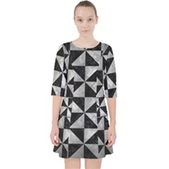 Triangle1 Black Marble & Gray Metal 2 Pocket Dress by trendistuff