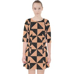 Triangle1 Black Marble & Natural Red Birch Wood Pocket Dress by trendistuff