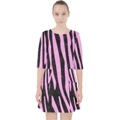 Skin4 Black Marble & Pink Colored Pencil Pocket Dress by trendistuff