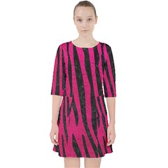 Skin4 Black Marble & Pink Leather (r) Pocket Dress by trendistuff