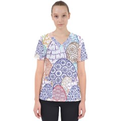 Abstract Nature 12 Scrub Top by tarastyle