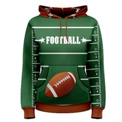 Football Left Sleeve Women s Pullover Hoodie by Wanni