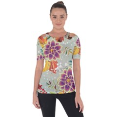 Autumn Flowers Pattern 9 Short Sleeve Top by tarastyle