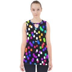 Colorful Rectangles On A Black Background                                 Cut Out Tank Top by LalyLauraFLM