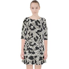 Skin5 Black Marble & Silver Foil (r) Pocket Dress by trendistuff
