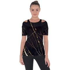 Black Marble Short Sleeve Top by 8fugoso