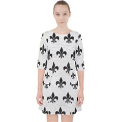 Royal1 Black Marble & White Leather (r) Pocket Dress by trendistuff