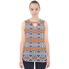 Purple And Brown Shapes                                  Cut Out Tank Top by LalyLauraFLM