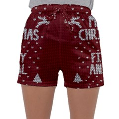 Ugly Christmas Sweater Sleepwear Shorts by Valentinaart